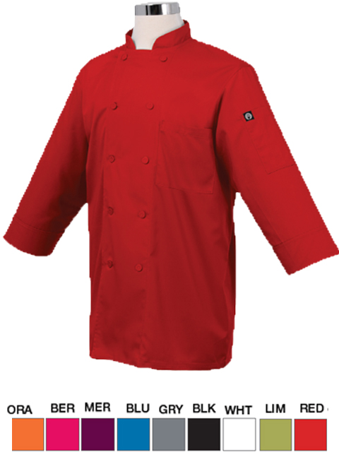 Chef Coat Lite Fabric 3/4 Sleeves
