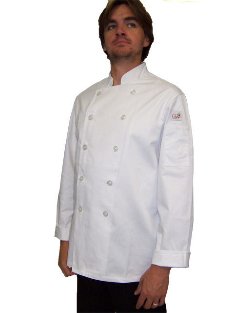Chef Coat White LS